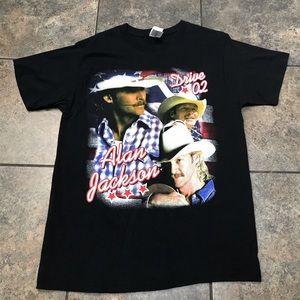 VTG 2002 Alan Jackson Tour S/S T-Shirt Size Large